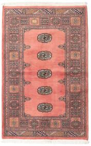 Pakistan Bokhara 2Ply Rug 95X148 Authentic  Oriental Handknotted Light Pink/Brown (Wool, Pakistan)