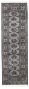 Pakistan Bokhara 2Ply Rug 79X249 Authentic  Oriental Handknotted Hallway Runner  Dark Grey/Light Grey (Wool, Pakistan)