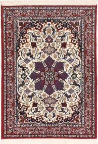 Isfahan Silk Warp Rug 70X98 Authentic  Oriental Handknotted Dark Red/Dark Purple (Wool/Silk, Persia/Iran)