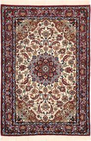 Isfahan Silk Warp Rug 71X102 Authentic  Oriental Handknotted Dark Brown/Dark Red (Wool/Silk, Persia/Iran)