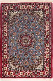 Isfahan Silk Warp Rug 73X104 Authentic  Oriental Handknotted Dark Red/Brown (Wool/Silk, Persia/Iran)