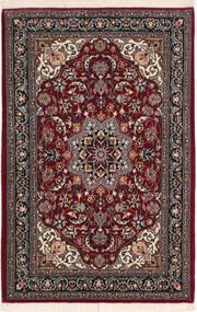 Isfahan Silk Warp Rug 67X106 Authentic  Oriental Handknotted Dark Red/Black (Wool/Silk, Persia/Iran)