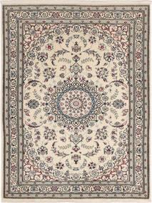 Nain 6La Rug 90X117 Authentic  Oriental Handknotted Light Grey/Dark Grey (Wool/Silk, Persia/Iran)