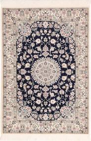 Nain 6La Rug 82X120 Authentic  Oriental Handknotted Light Grey/Beige (Wool/Silk, Persia/Iran)