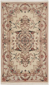 Tabriz 50 Raj With Silk Rug 74X127 Authentic  Oriental Handknotted Light Grey/Dark Brown/Light Brown (Wool/Silk, Persia/Iran)