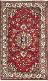 Tabriz 50 Raj With Silk Rug 75X128 Authentic  Oriental Handknotted Dark Brown/Dark Red (Wool/Silk, Persia/Iran)