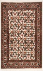 Tabriz 50 Raj Rug 80X129 Authentic  Oriental Handknotted Dark Brown/Dark Red (Wool/Silk, Persia/Iran)