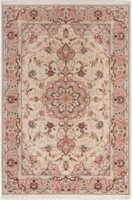 Tabriz 50 Raj With Silk Rug 100X152 Authentic  Oriental Handknotted Light Grey/Dark Red (Wool/Silk, Persia/Iran)