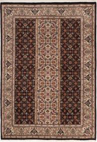 Tabriz 50 Raj Rug 100X155 Authentic  Oriental Handknotted Dark Brown/Brown (Wool/Silk, Persia/Iran)