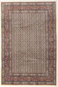 Moud Rug 199X293 Authentic  Oriental Handknotted Light Grey/Dark Grey (Wool/Silk, Persia/Iran)