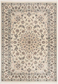 Nain 6La Rug 112X158 Authentic Oriental Handknotted Light Grey/Beige (Wool/Silk, Persia/Iran)