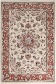 Tabriz 50 Raj With Silk Rug 110X158 Authentic  Oriental Handknotted Light Grey/Light Brown (Wool/Silk, Persia/Iran)