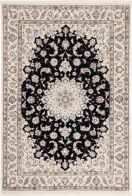 Nain 6La Rug 108X160 Authentic  Oriental Handknotted Light Grey/Black (Wool/Silk, Persia/Iran)