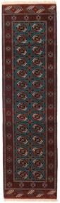 Turkaman Rug 83X286 Authentic  Oriental Handknotted Hallway Runner  Dark Brown/Dark Red (Wool, Persia/Iran)