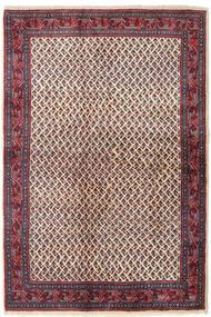 Sarouk Mir Rug 129X194 Authentic  Oriental Handknotted Dark Purple/Beige (Wool, Persia/Iran)
