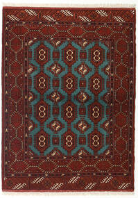 Turkaman Rug 110X148 Authentic  Oriental Handknotted Dark Red/Turquoise Blue (Wool, Persia/Iran)