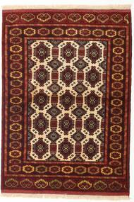 Turkaman Rug 103X142 Authentic  Oriental Handknotted Dark Red (Wool, Persia/Iran)