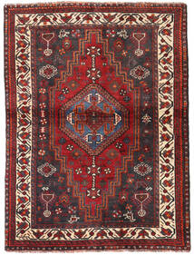 Shiraz Rug 115X154 Authentic Oriental Handknotted Dark Red/Dark Brown (Wool, Persia/Iran)
