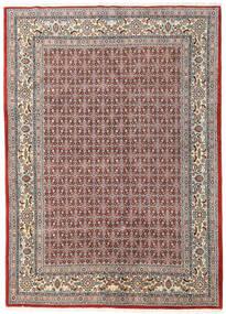 Moud Rug 168X233 Authentic  Oriental Handknotted Light Grey/Dark Red (Wool/Silk, Persia/Iran)