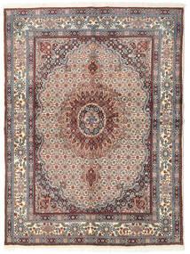 Moud Rug 148X200 Authentic  Oriental Handknotted Beige/Light Grey (Wool/Silk, Persia/Iran)