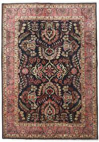 Moud Rug 171X243 Authentic  Oriental Handknotted Black/Light Brown (Wool/Silk, Persia/Iran)