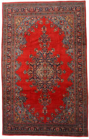 Mahal Rug 220X345 Authentic  Oriental Handknotted Dark Red/Rust Red (Wool, Persia/Iran)
