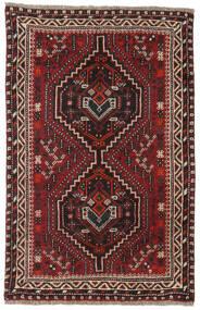 Shiraz Rug 81X124 Authentic Oriental Handknotted Dark Red/Dark Brown (Wool, Persia/Iran)