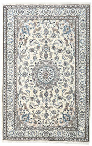 Nain Rug 198X304 Authentic  Oriental Handknotted Light Grey/Beige (Wool, Persia/Iran)
