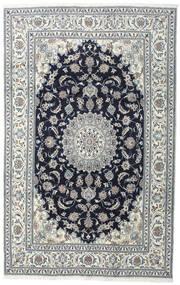 Nain Rug 200X308 Authentic  Oriental Handknotted Dark Grey/Light Grey (Wool, Persia/Iran)