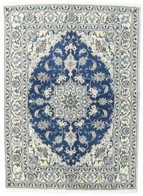 Nain Rug 144X200 Authentic  Oriental Handknotted Light Grey/Dark Blue (Wool, Persia/Iran)