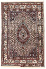 Moud Rug 96X148 Authentic  Oriental Handknotted Dark Red/Dark Brown (Wool/Silk, Persia/Iran)