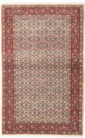 Moud Rug 95X153 Authentic  Oriental Handknotted Dark Brown/Dark Red (Wool/Silk, Persia/Iran)