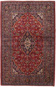 Keshan Rug 143X215 Authentic  Oriental Handknotted Dark Red/Dark Brown (Wool, Persia/Iran)