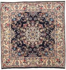 Mashad Rug 192X198 Authentic  Oriental Handknotted Square Beige/Dark Brown (Wool, Persia/Iran)