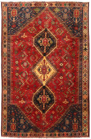 Shiraz Rug 185X285 Authentic  Oriental Handknotted Dark Red/Dark Brown (Wool, Persia/Iran)