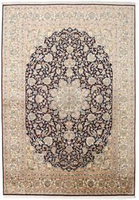 Kashmir Pure Silk Rug 169X244 Authentic Oriental Handknotted Beige/Dark Grey (Silk, India)