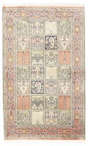 Kashmir Pure Silk Rug 94X154 Authentic  Oriental Handknotted Light Grey/Beige (Silk, India)