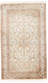 Kashmir Pure Silk Rug 92X153 Authentic Oriental Handknotted White/Creme/Light Grey (Silk, India)