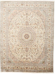 Kashmir Pure Silk Rug 243X319 Authentic  Oriental Handknotted Light Grey/Beige (Silk, India)