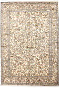 Kashmir Pure Silk Rug 220X315 Authentic Oriental Handknotted Light Grey/Beige (Silk, India)
