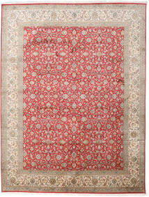 Kashmir Pure Silk Rug 245X320 Authentic Oriental Handknotted Light Grey/Light Brown (Silk, India)