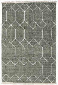 Kiara - Forest Green Rug 160X230 Authentic  Modern Handknotted Light Grey/Dark Grey ( India)