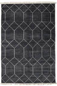 Kiara - Dark_Navy Rug 160X230 Authentic  Modern Handknotted Black/Dark Grey ( India)