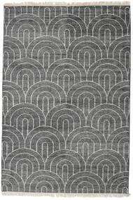 Vanya - Charcoal/Cream Rug 160X230 Authentic  Modern Handknotted Dark Grey/Light Grey ( India)