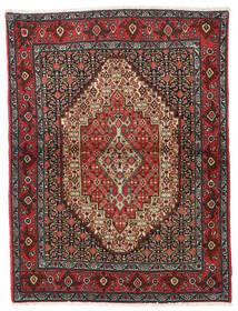 Senneh Rug 122X164 Authentic  Oriental Handknotted Dark Red/Dark Grey (Wool, Persia/Iran)