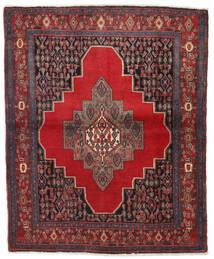 Senneh Rug 130X155 Authentic  Oriental Handknotted Dark Red/Dark Grey (Wool, Persia/Iran)