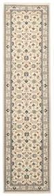 Nain 9La Rug 74X294 Authentic  Oriental Handknotted Hallway Runner  Beige/Light Grey (Wool/Silk, Persia/Iran)