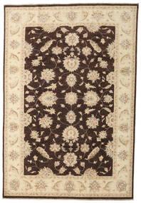 Ziegler Rug 197X290 Authentic  Oriental Handknotted Beige/Dark Brown (Wool, Pakistan)