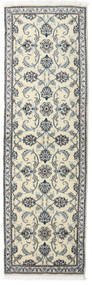 Nain Rug 80X250 Authentic  Oriental Handknotted Hallway Runner  Dark Grey/Beige (Wool, Persia/Iran)