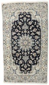 Nain Rug 118X210 Authentic  Oriental Handknotted Light Grey/Dark Grey (Wool, Persia/Iran)